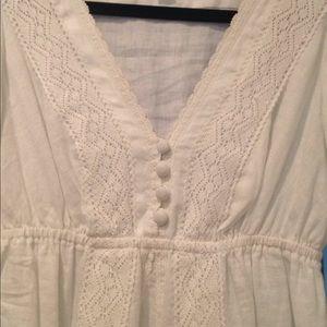 Banana Republic Dresses - White linen dress